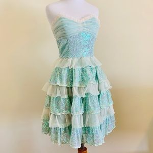 Betsey Johnson Prom Evening Sequins Tea Party